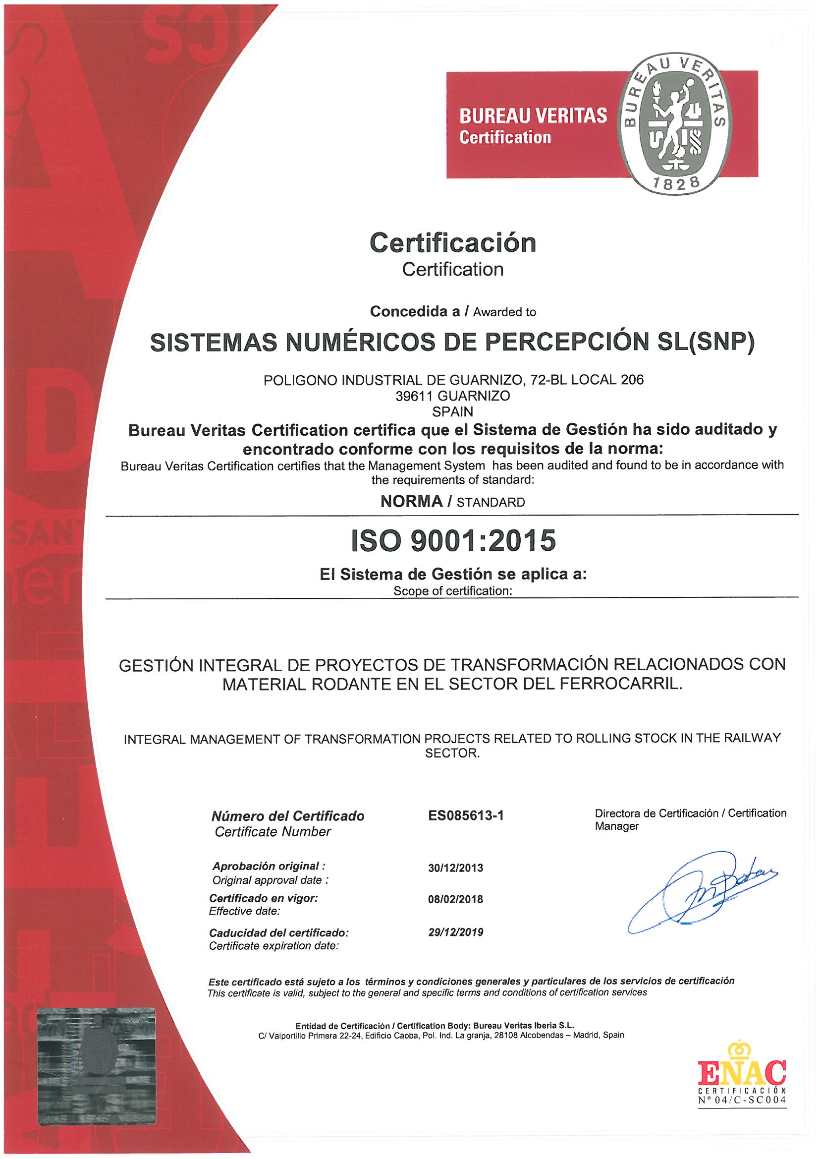 Quality Assurance Certification To Iso 9001